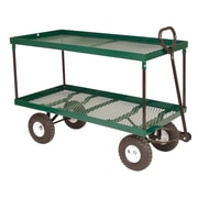 "Millside Industries 1742 20"" x 38"" Double Deck Metal Wagon"