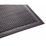 "Guardian Clean Step Polypropylene Entrance Mat, 72"" x 48"", Black"