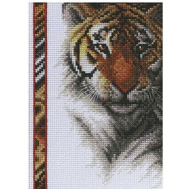 Tiger Wildlife Mini Counted Cross Stitch Kit, 5