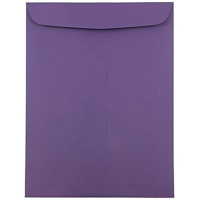 JAM Paper® 9 x 12 Open End Catalog Envelopes, Dark Purple, 25/pack (51287430)