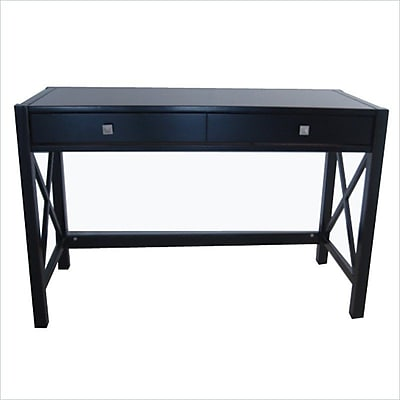 Linon Anna Standard Writing Desk, Antique Black (86105C124-01KDU)