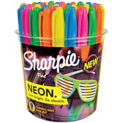 Sharpie® Neon Permanent Markers, Fine Point, Neon Colored Ink, 36/pk (1875609)
