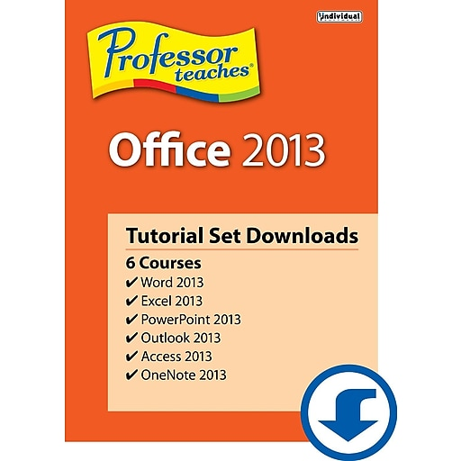 Individual Software: Individual Software Professor Teaches Office 2013 Tutorial