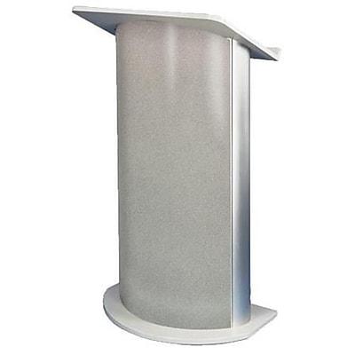 Amplivox Lectern, Curved C-Panel, Gray Granite-Satin Anodized Aluminum