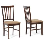 Baxton Studio Fabric Dining Chair, Brown, 2/Set