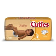 Cuties™ Premium Baby Diapers, Size 1, 200/Case