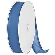 "1 1/2"" x 100 yds. Organza Satin Edge Ribbon, Navy Blue"