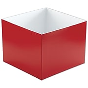 "Bags & Bows® 8"" x 8"" x 6"" Hi-Wall Gift Box Bottoms, 50/Pack"