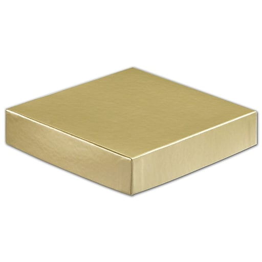 6 W X 6 L Solid Gift Boxes Gold 50 Pack