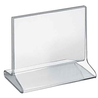 Azar Acrylic Horizontal Top Load Sign Holder, 5.5