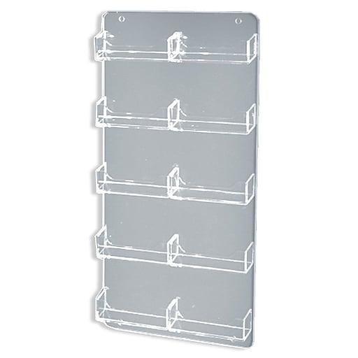 Azar displays 15 34 x 8 12 10 pocket wall mount acrylic business httpsstaples 3ps7is colourmoves