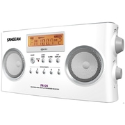 Sangean® PRD5 Black, White Portable Radio w/ FM-Stereo RDS (RBDS)/AM Digital Tuning