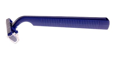 Medline Twin Blade Facial Razors, Blue 500/Pack