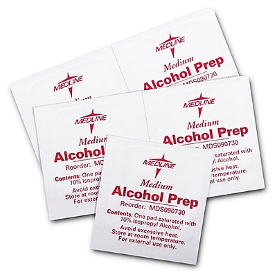 Medline MDS090735 Sterile Alcohol Prep Pads Medium 3000/Pack