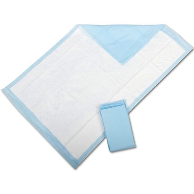 Protection Plus® Fluff-filled Underpads, Blue, 36