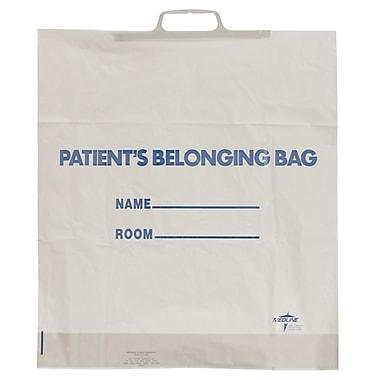 Medline Rigid Handle Patient Belonging Bags, Lime Green, 250/Pack
