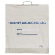 Medline Rigid Handle Patient Belonging Bags, Lime Green, 250/Pack
