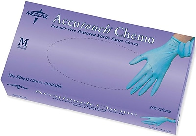 Accutouch® Powder-free Latex-free Nitrile Exam Gloves, Blue, Small, 9