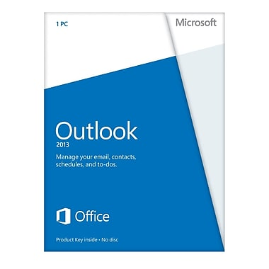 Microsoft Outlook 2013 for Windows (1-User) [Product Key Card]