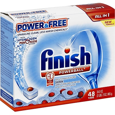 Finish Powerball Power & Free Dishwasher Tabs