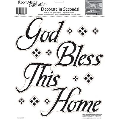 RoomMates® God Bless This Home Quote Peel and Stick Wall Decal, 10