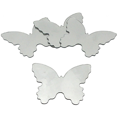 RoomMates® Butterfly Shape Peel and Stick Wall Mirror, Small, 4 3/4