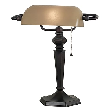 Kenroy Home Chesapeake Banker Lamp, Oil Rubbed Bronze Finish