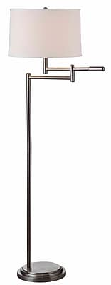 Kenroy Home Theta Swing Arm Floor Lamp, Brushed Steel Finish