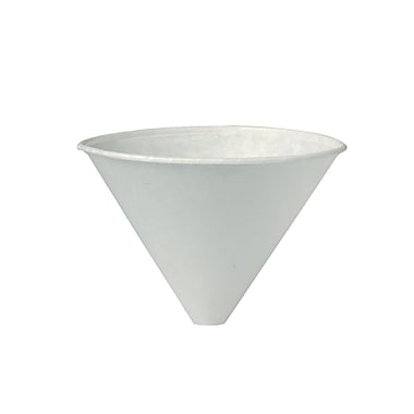 SOLO® Bare® Eco-Forward® 6SRX Funnel Cup, White, 6 oz., 2500/Case