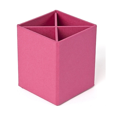 Bigso Pencil Cup with Dividers Cerise