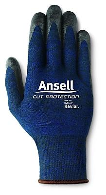 Ansell® 97-505 Cut Protective Gloves, Blue/Black, Medium