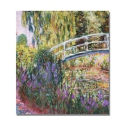 "Trademark Global Claude Monet ""The Japanese Bridge IV"" Canvas Art, 24"" x 24"""