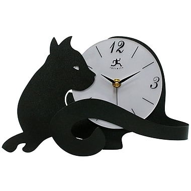 Infinity Instruments Cat Tail Table Clock (13928-3066)