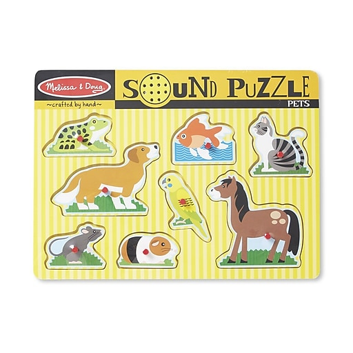 Melissa & Doug Pets Sound Puzzle - 8 Pieces (730)
