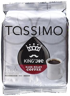 Tassimo® King of Joe® Dark Roast Coffee T-Discs, Dark Roast, 16/Box (05035)