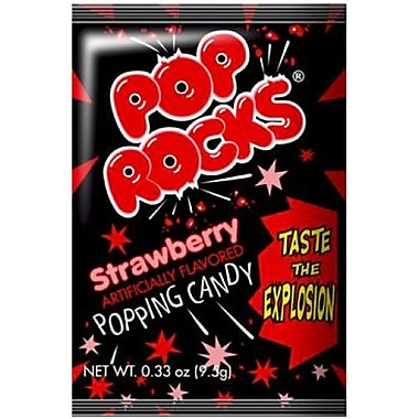 Pop Rocks Strawberry, 0.66 oz. Packs, 24 Packs/Box
