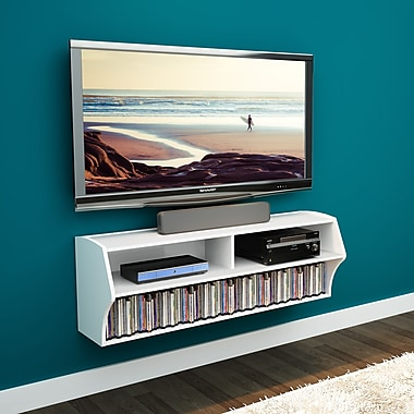 Prepac Altus Wall Mounted Audio/Video Console, White, (WCAW-0200-1)
