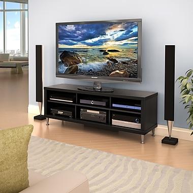 Prepac – Meuble pour téléviseur 55 po Series 9 Designer, noir, (BCAL-0508-1)