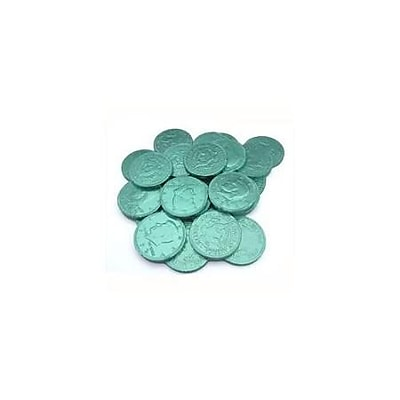 Fort Knox Milk Chocolate Coins, Green Foil, 1 lb. Bulk