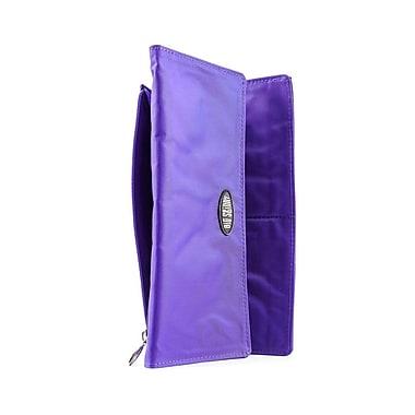 Big Skinny Nylon Microfiber Monte Cougar Checkbook Wallet in Electric Purple