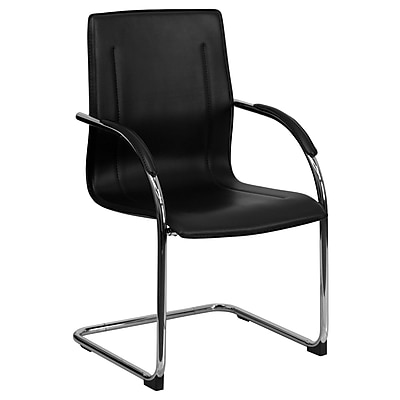 Flash Furniture Faux Leather Conference Office Chair, Fixed Arms, Black (BT509BK)