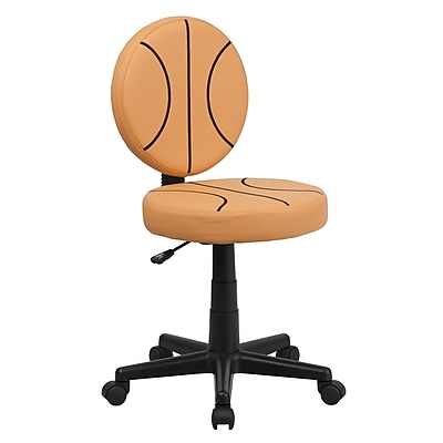 Flash Furniture Not Found BT-6178-BASKET-GG Vinyl Task Chair, Orange/Black