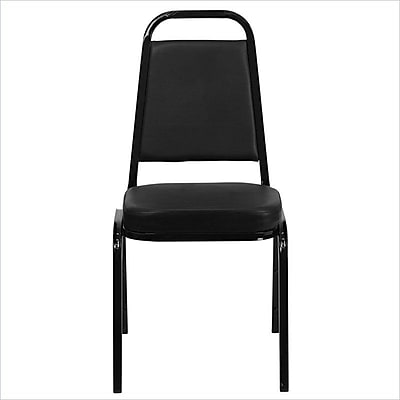 Flash Furniture HERCULES Series Trapezoid Back Banquet Stack Chair with Black Vinyl and Black Frame Finish, 10/Pack 200933
