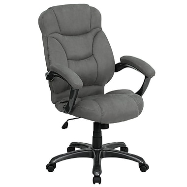 Flash Furniture Fabric Executive Office Chair, Fixed Arms, Gray (GO725GY)