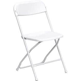 Flash Furniture HERCULES Series 800 lb. Capacity Premium Plastic Folding Chair, White, 32/Pack 201263