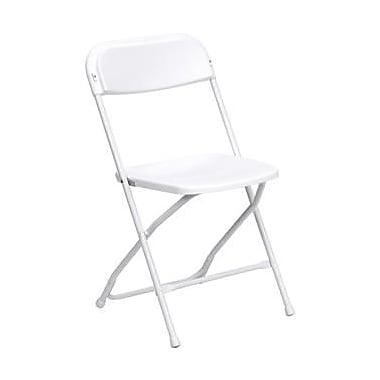 Flash Furniture HERCULES Series 800 lb. Capacity Premium Plastic Folding Chair, White, 32/Pack