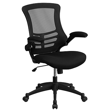Flash Furniture Mesh Computer and Desk Office Chair, Fixed Arms, Black (LFW95MESHBK)