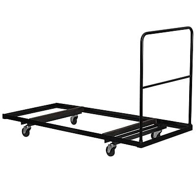 Flash Furniture Steel Folding Table Dolly for Rectangular Folding Tables, Black
