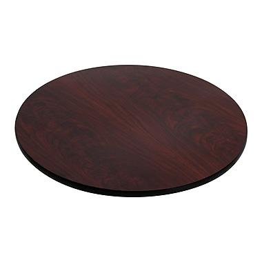 Flash Furniture 30u0027u0027 Round Laminate Table Top, Black/Mahogany (XURD30MBT)
