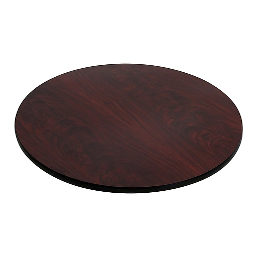 "Flash Furniture 30"" Laminate Round Table Top, Black/Mahogany"